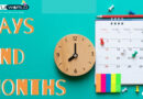 Days and Months in English