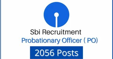 Recruitment of 2056 posts in State Bank of India